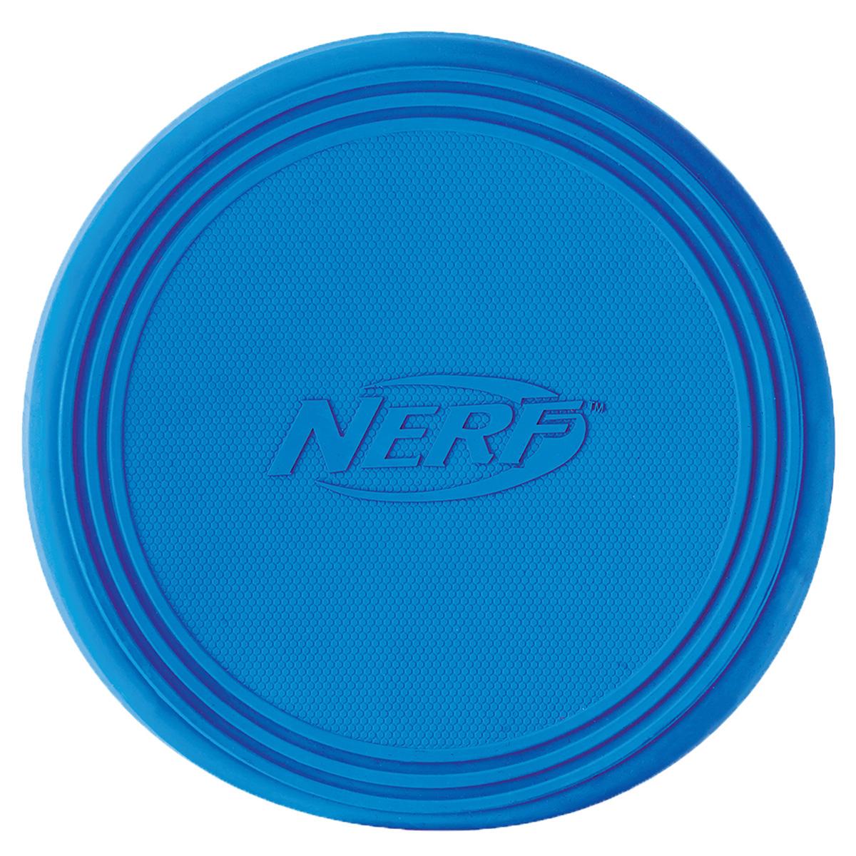 Игрушка для собак Nerf Диск для фрисби, цвет: голубой, 22,5 см0120710Летающая тарелка-фрисби Nerf - это удивительный спортивный снаряд, с которым не придется скучать.Кроме великолепных лётных качеств, диск безопасен для собачьих зубов и десен.Диск изготовлен из сверхпрочной резины, что обеспечивает долговечность использования.Высококачественные прочные материалы, из которых изготовлена игрушка, обеспечивают долговечность использования.Оптимальна для перетягивания, подходит для игры двух собак.Яркие привлекательные цвета.Размер: 22,5 см.