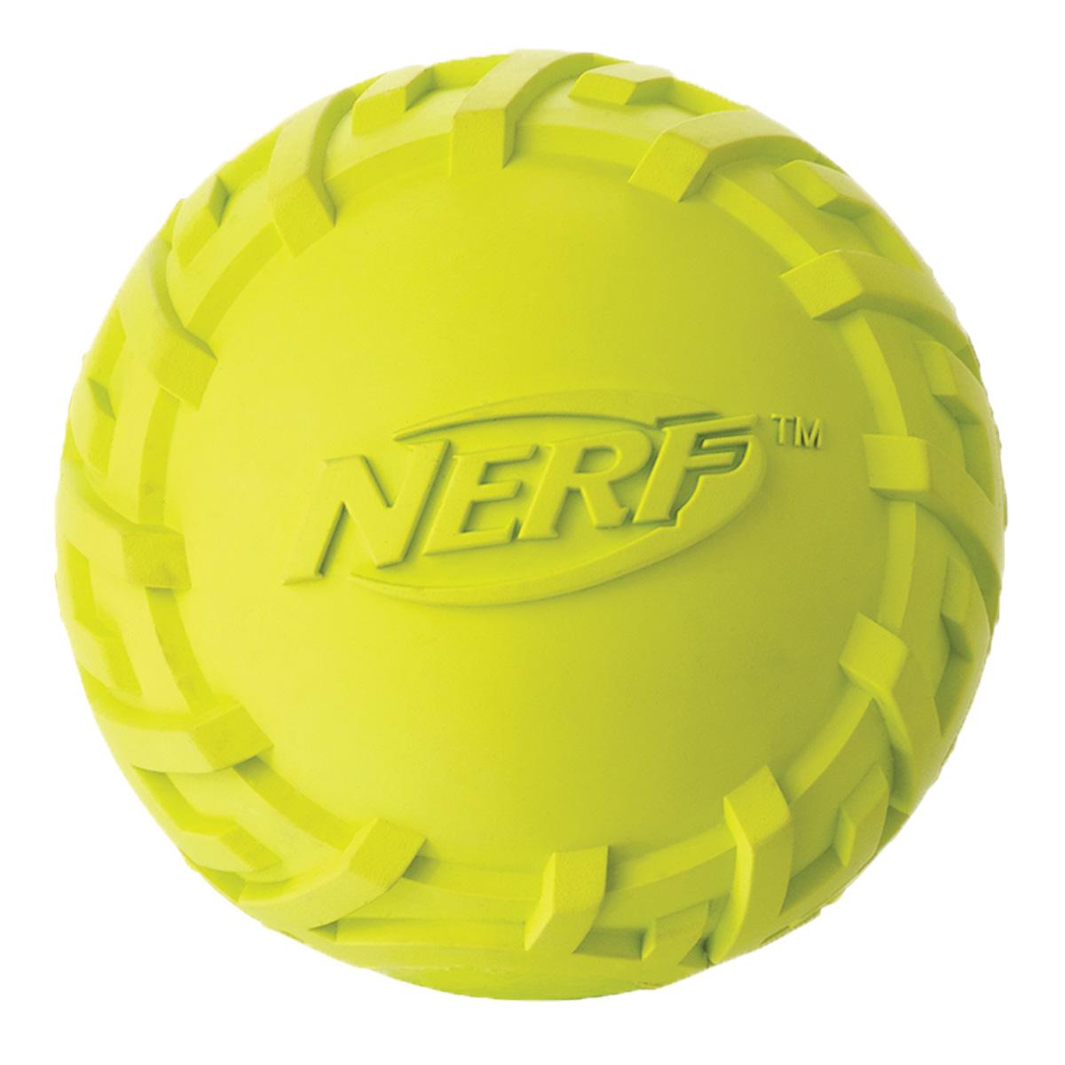 Игрушка для собак Nerf Мяч резиновый, с пищалкой, диаметр 6 см75119Мяч Nerf имеет уникальный рисунок протектора шины.Изготовлен из сверхпрочной резины, что обеспечивает долговечность использования. Подходит для собак с самой мощной челюстью. Мяч имеет пищалку.Размер S: 6 см.