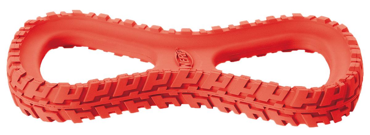 Игрушка для собак Nerf Шина-восьмерка, 25 см75359Шина Nerf выполнена из сверхпрочной резины.Подходит для собак с самой мощной челюстью. Высококачественные прочные материалы, из которых изготовлена игрушка, обеспечивают долговечность использования.Оптимальна для перетягивания, подходит для игры двух собак.Яркие привлекательные цвета.