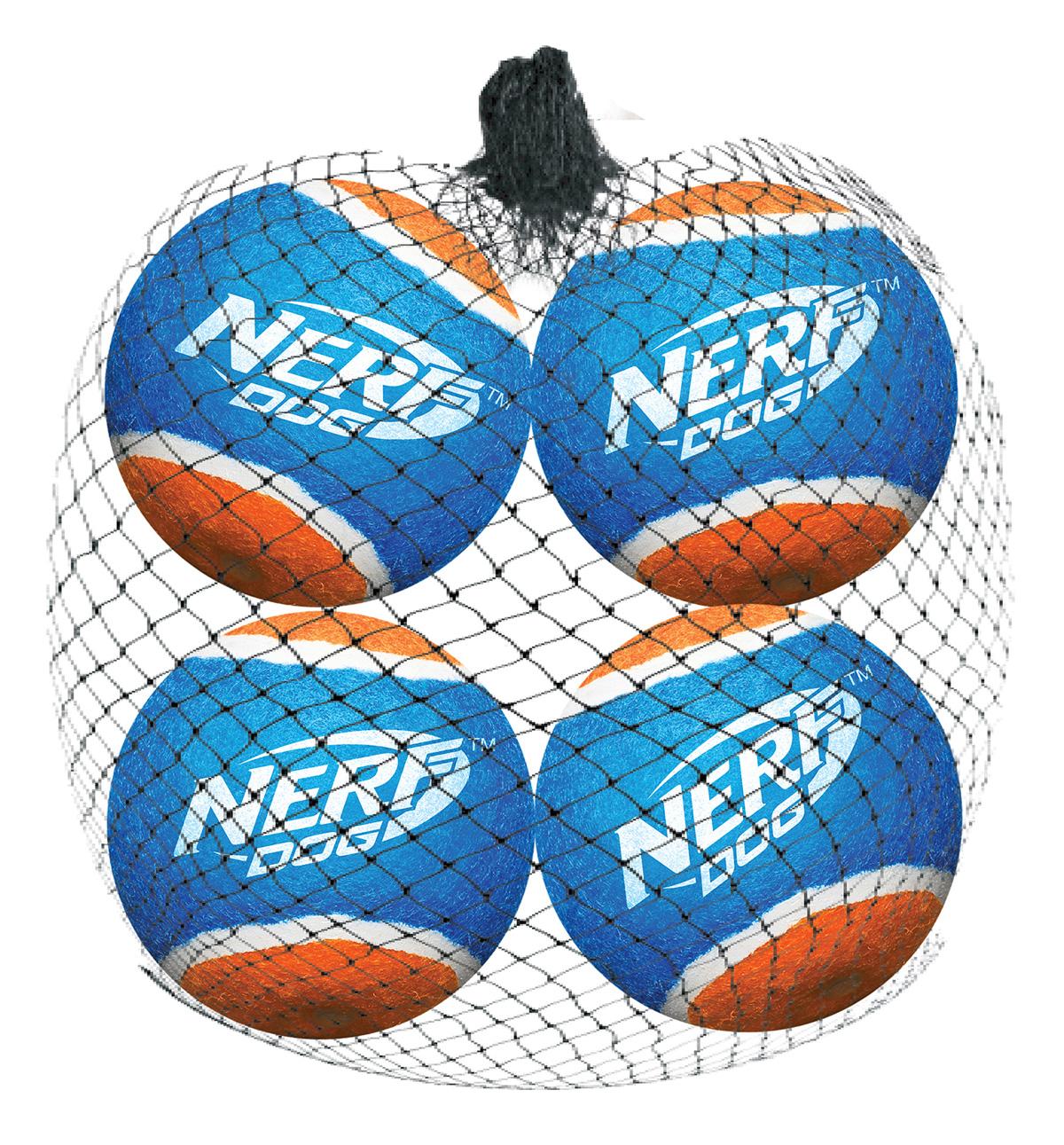 Мяч теннисный для бластера Nerf, диаметр 6 см, 4 шт0120710Высококачественные теннисные мячи для бластера NerfDog. Специально разработаны для максимальной траектории полета, безопасны, удобны для захвата. Игрушки Nerf Dog представлены в различных сериях в зависимости от рисунка, фактуры и материала, из которого они изготовлены (резина, ТПР, нейлон, пластик, каучук). Размер: 6 см.