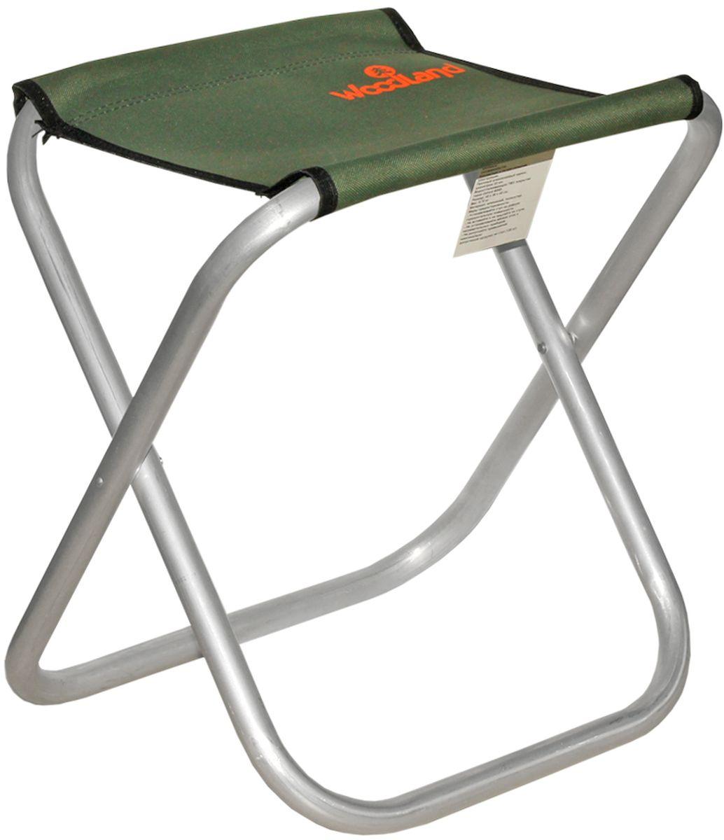 Стул Woodland Compact ALU, цвет: оливковый, стальной, 40 x 30 х 40 смAS 25Прочный алюминиевый каркас диаметром 22 мм. Водоотталкивающее ПВХ покрытие ткани Oxford 600D.Максимально допустимая нагрузка: 120 кг