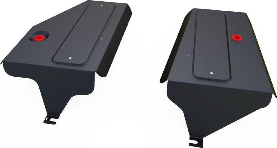 Защита топливных баков Автоброня Volkswagen Tiguan 2011-2016111.05846.1Защита топливных баков Автоброня Volkswagen Tiguan 4WD, V - 2,0TSI; 2,0TDI 2011-2016, сталь 2 мм, комплект крепежа, 111.05846.1Стальные защиты Автоброня надежно защищают ваш автомобиль от повреждений при наезде на бордюры, выступающие канализационные люки, кромки поврежденного асфальта или при ремонте дорог, не говоря уже о загородных дорогах.- Имеют оптимальное соотношение цена-качество.- Спроектированы с учетом особенностей автомобиля, что делает установку удобной.- Защита устанавливается в штатные места кузова автомобиля.- Является надежной защитой для важных элементов на протяжении долгих лет.- Глубокий штамп дополнительно усиливает конструкцию защиты.- Подштамповка в местах крепления защищает крепеж от срезания.- Технологические отверстия там, где они необходимы для смены масла и слива воды, оборудованные заглушками, закрепленными на защите.Толщина стали 2 мм.В комплекте крепеж и инструкция по установке.Уважаемые клиенты!Обращаем ваше внимание на тот факт, что защита имеет форму, соответствующую модели данного автомобиля. Наличие глубокого штампа и лючков для смены фильтров/масла предусмотрено не на всех защитах. Фото служит для визуального восприятия товара.