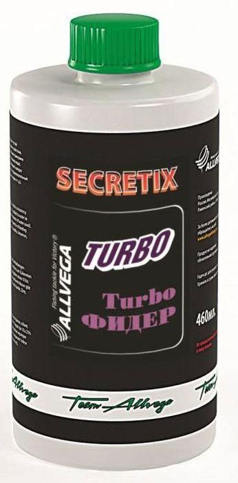 Ароматизатор жидкий для рыбалки ALLVEGA Secretix Turbo Feeder, турбо фидер, 460 мл0057662Aроматизатор, обладающий густой консистенцией и клеящим свой-ством, добавляется в воду для заме-шивания прикормки (от 10 до 25% от используемого объема воды). Ароматизированная вода пропиты-вает каждую частичку прикормки и придаёт ей привлекательный за-пах (ванили, корицы, клубники, чер-вя ит.д.).Этот любимый рыболовами нежный фруктовый вкус всегда считался эффективной добавкой для ловли карпа.