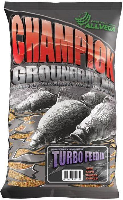 Прикормка Allvega Champion. Turbo Feeder, 1 кг0059186Рассыпчатая, взрывная прикормка мелкого помола Allvega Champion. Turbo Feeder создает в воде облако мути. Основу этой прикормки составляет обжаренный бисквит, а также высококачественные масличные культуры. Она подходит для ловли всех видов рыб на водоемах различного типа. Может использоваться как самостоятельная прикормка, так и в качестве основы для приготовления специальных смесей с другими прикормками и компонентами.Товар сертифицирован.