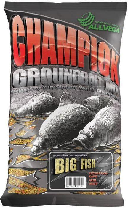 Прикормка Allvega Champion. Big Fishr, 1 кгMABLSEH10001Крупнофракционная питательная прикормка Allvega Champion. Big Fishr с добавлением крупных контрастных частиц обладает сладким, ярко выраженным ароматом. Она предназначенная для ловли крупной рыбы. Может использоваться как самостоятельная прикормка, так и в качестве основы для приготовления специальных смесей с другими прикормками и компонентами.Товар сертифицирован.