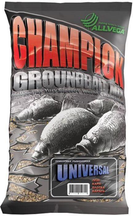 Прикормка Allvega Champion, универсальная, 1 кг95936-911Универсальная прикормка Allvega Champion подходит для ловли всех видов рыб на водоемах различного типа (стоячей воде и на слабом течении). При ароматизации использованы натуральные ингредиенты. Может использоваться как самостоятельная прикормка, так и в качестве основы для приготовления специальных смесей с другими прикормками и компонентами.Товар сертифицирован.