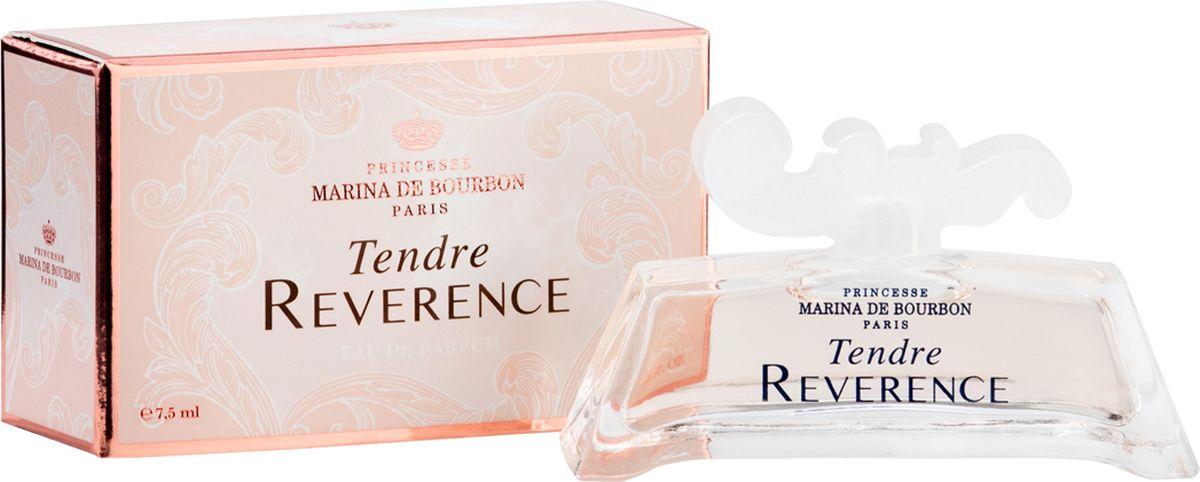 Princesse Marina De Bourbon Paris Tendre Reverence Миниатюра парфюмерная вода 7,5 мл28032022ФЛАКОН: Tendre Reverence – вступление в уникальную чарующую вселенную. Выполненный в стиле комплекса в Версале, главного фамильного дворца, аромат Tendre Reverence пробуждает ощущения мягкой сладости жизни, наполненной историей и воспоминаниями. Парфюм отражает богатство и элегантность вселенной принцессы, а ароматы, созданные ею, воплощают мир гармони, спокойствия и нежности ее снов. Несколько прикосновений этого аромата перенесут вас сквозь время. Потрясающая эпоха, синоним сладости, изысканной деликатности и женственности, выраженных с помощью аромата. АРОМАТ: Утонченный, сладкий и изысканный Tendre Reverence это сказочный букет, олицетворяющий женственную красавицу, сохранившую свою молодость и романтичность. Волна свежести встречается с цветочными нотами в этом новом Цветочный-фруктовом аромате. Tendre Reverence раскрывает аромат, наполненный эмоциями и чувственностью. Парфюм обладает мягким и одновременно искрящимся сладким характером, излучает женственность и удивляет; обволакивает