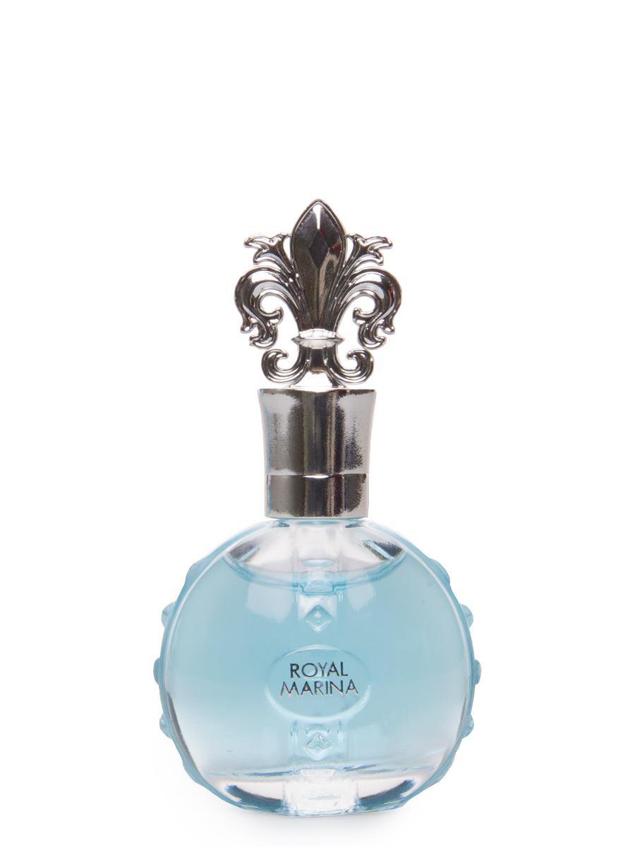 """Princesse Marina De Bourbon Paris Royal Marina Turquoise Парфюмерная вода 7,5 мл28032022ФЛАКОН: Дизайн Royal Marina Turquoise вдохновлен яркими и прекрасными голубыми драгоценными камнями и их абсолютной чистотой, перьями павлина и изысканными шелками королевского двора, что делает этот аромат настоящим знаком величия и принадлежности к знатному роду. Акватический, спокойный и деликатный Royal Marina Turquoise с его бирюзовый оттенком вызывает очарование камня счастья для радужного настроения. Несколько капель """"Royal Marina Turquoise"""" перенесут вас на великолепные балы в интерьерах Замка Версаль. АРОМАТ Royal Marina Turquoise - это чистый и деликатный аромат. Oн открывается очаровательной смесью нот зеленого яблока, персика и «водянистых» фруктов, которые усиливаются зелеными нотами. В сердце аромата находятся свежий Ландыш, Жасмин и Магнолия. Сандал, мускус и Ваниль придают мягкий и сливочный оттенок основной базе."""