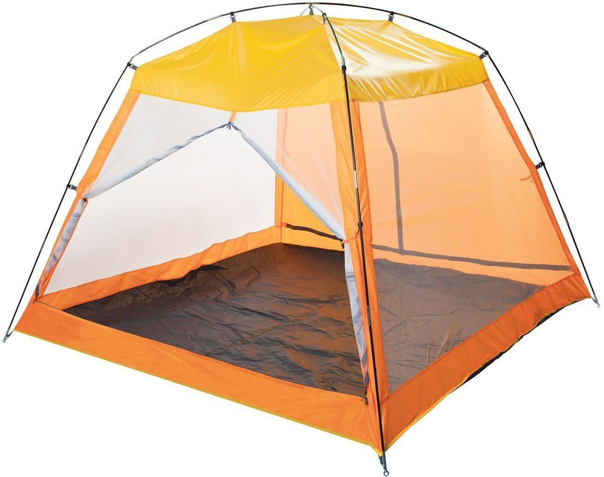 Тент пляжный GoGarden  Malibu Beach , 210 х 210 х 150 см, цвет: желтый, оранжевый - Палатки и тенты