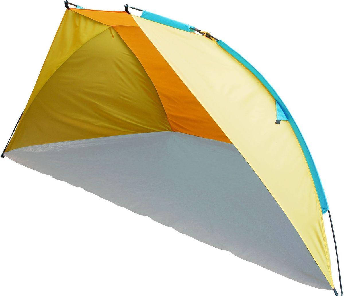 Тент пляжный GoGarden Tenerife Beach, 270 х 120 х 120 см, цвет: желтый, оранжевый50224Пляжный тент GoGarden Tenerife Beach, обеспечивает защиту от солнца, ветра и даже легких осадков - особенно полезен для очень маленьких детей. Очень прост в установке, имеет малый вес и удобный чехол с ручкой для переноски.Особенности модели:Простая и быстрая установка,Тент палатки из полиэстера, с пропиткой PU водостойкостью 500 ммКаркас выполнен из прочного стекловолокна,Дно изготовлено из прочного армированного полиэтилена, Утяжеляющий карман для песка для устойчивости тента,Растяжки и колышки в комплекте. Характеристики:Цвет: желтый/оранжевый.Размер шатра: 270 см х 120 см х 120 см.Материал шатра: 100% полиэстер, пропитка PU.Водостойкость тента: 500мм.Материал дуг: стеклопластик 7,9 мм.Вес: 1,4 кг.Размер в сложенном виде: 10 см х 68 см.Производитель: Китай.Артикул: 50224.