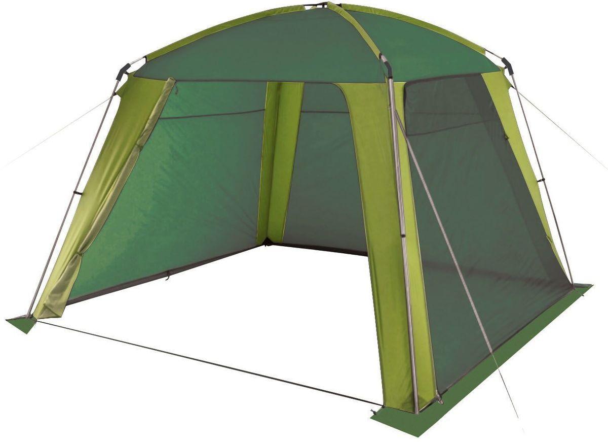 Шатер-тент TREK PLANET Rain Dome Green, цвет: зеленый, светло-зеленый, 320 х 320 х 210 см70262Универсальный шатер четырехугольной формы TREK PLANET Rain Dome Green отлично подойдет как для дачи, в качестве беседки или полевого навеса, так и для кемпинга. Две стороны из полиэстера надежно защищают от ветра и дождя, две другие стороны из москитной сетки позволяют шатру отлично проветриваться,Особенности шатра:Легко собирается и разбирается,Устойчив на ветру,Две стороны шатра из полиэстера, с пропиткой PU водостойкостью 2000 мм надежно защищают от ветра и дождя,Все швы проклеены,Две другие стороны из москитной сетки позволяют шатру отлично проветриваться, защищая от насекомых.Двери из москитной сетки в полный размер стороны с молнией по периметру, удобно сворачиваются на сторону.Каркас: боковые стойки из стали, потолочные дуги из прочного стеклопластика, Прочные и удобные адаптеры для соединения потолочных дуг со стойками,Два входа в шатер,Защитным полог по всему периметру защищает от ветра, дождя и насекомых,Возможность подвески фонаря в палатке,Палатка упакована в сумку-чехол с ручками, застегивающуюся на застежку-молнию. Размер шатра: 320 х 320 х 210 см.Материал шатра: 100% полиэстер, пропитка PU.Водостойкость: 2000 мм.Материал дуг: стеклопластик 12,7 мм, сталь 19 мм.Вес: 7 кг.Размер в сложенном виде: 20 х 20 х 87 см.
