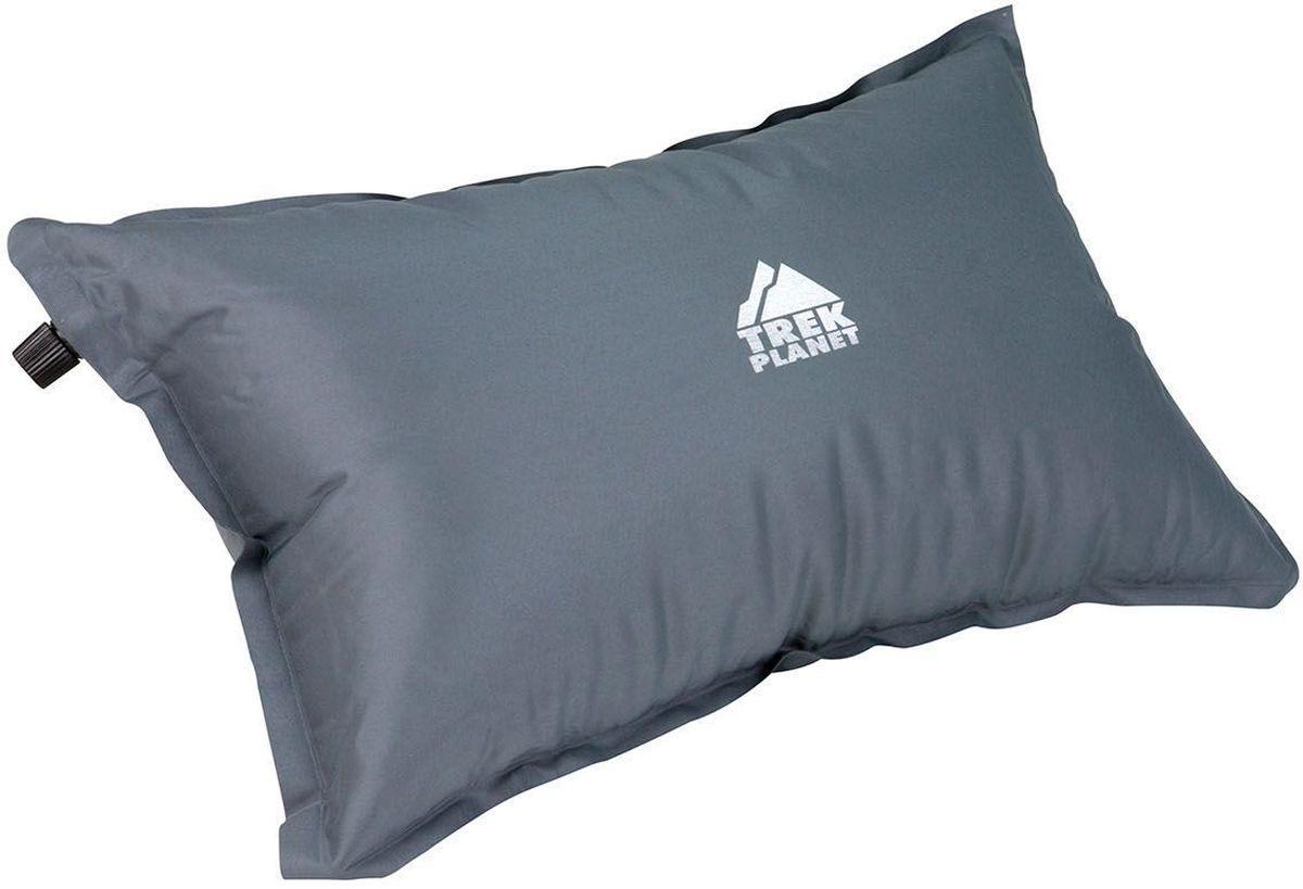 Подушка туристическая TREK PLANET Relax Pillow, самонадувающаяся, цвет: серый, 47 х 28 х 15 смBP-001 BKСамонадувающаяся подушка TREK PLANET Relax Pillow пригодится вам в путешествии, походе, в дороге или на даче. Компактная и легкая, в сложенном состоянии не занимает много места. Незаменима для кемпинга, туризма и отдыха на открытом воздухе. Легко вставляется в кармашек для подушки, если такой есть в вашем спальнике.Ткань внешняя: 100% Полиэстер 75D PVC.Тип наполнителя: вспененный полиуретан плотностью 16 кг/м3,Надежный пластиковый клапан,Компрессионные резиновые кольца и чехол для хранения и переноски в комплекте.
