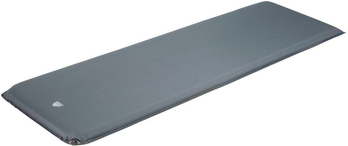 Коврик кемпинговый TREK PLANET  Relax 70 , самонадувающийся, цвет: серый, 198 х 63,5 х 7 см - Туристические коврики