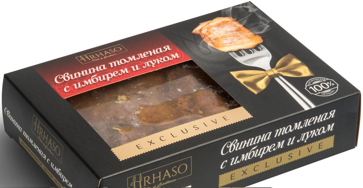 Рускон Hrhaso свинина томленая с имбирем и луком, 400 г0120710Уникальный экопродукт, причисленный к деликатесному виду мяса - красной дичи. В нем идеально сбалансировано содержание макро- и микроэлементов, витаминов и минеральных веществ.