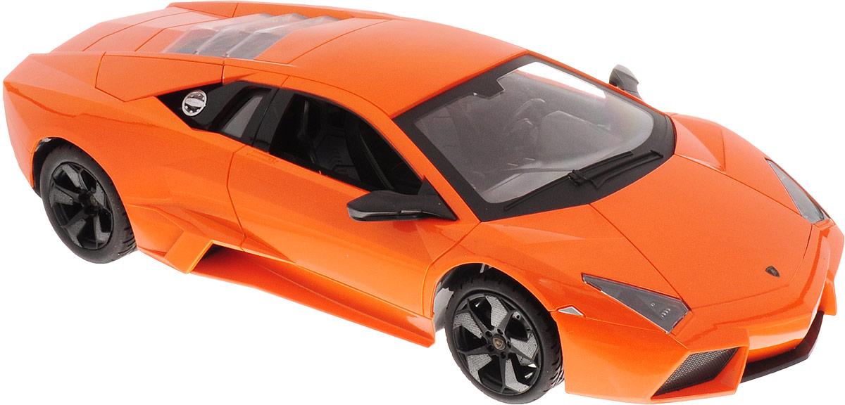 """Радиоуправляемая модель MZ """"Lamborghini Reventon"""" очень реалистична, изготовлена по официальной лицензии. Внешний вид, детали, салон машины полностью совпадают с настоящим прототипом модели.Модель очень маневренная, может двигаться вперед-назад, поворачивать вправо-влево. Обладает световыми и звуковыми эффектами. Управление ведется с прилагаемого в комплекте пульта.Реалистичная модель машины Lamborghini понравится и ребенку, и взрослому. Она очень проста и удобна в использовании.Машина работает от 5 батареек напряжением 1,5V типа АА (входят в комплект). Зарядка батареек осуществляется посредством зарядного устройства (входит в комплект). Для работы пульта управления необходимо купить 3 батарейки напряжением 1,5V типа AАА (в комплект не входят)."""