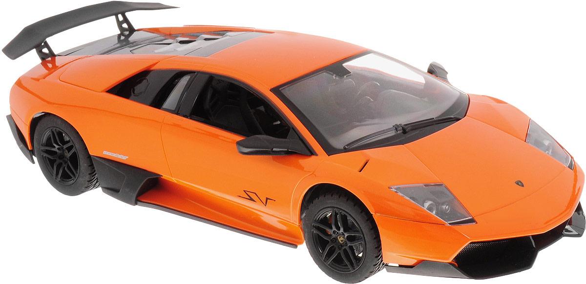 """Радиоуправляемая модель MZ """"Lamborghini LP670-4SV"""" со световыми и звуковыми  эффектами - отличный подарок не только ребенку, но и взрослому. Автомобиль выполнен в масштабе 1/14.Машина изготовлена из современных прочных и безопасных материалов, обладает высокой стабильностью движения, что позволяет полностью контролировать его процесс, управляя без суеты и страха сломать игрушку. Пульт управления выполнен в виде руля, что добавит игре еще больше интереса.Авто работает от 5 батареек напряжением 1,5V типа АА (входят в комплект). Зарядка происходит посредством зарядного устройства (входит в комплект). Для работы пульта управления необходимо купить 3 батарейки напряжением 1,5V типа ААА (не входят в комплект)."""