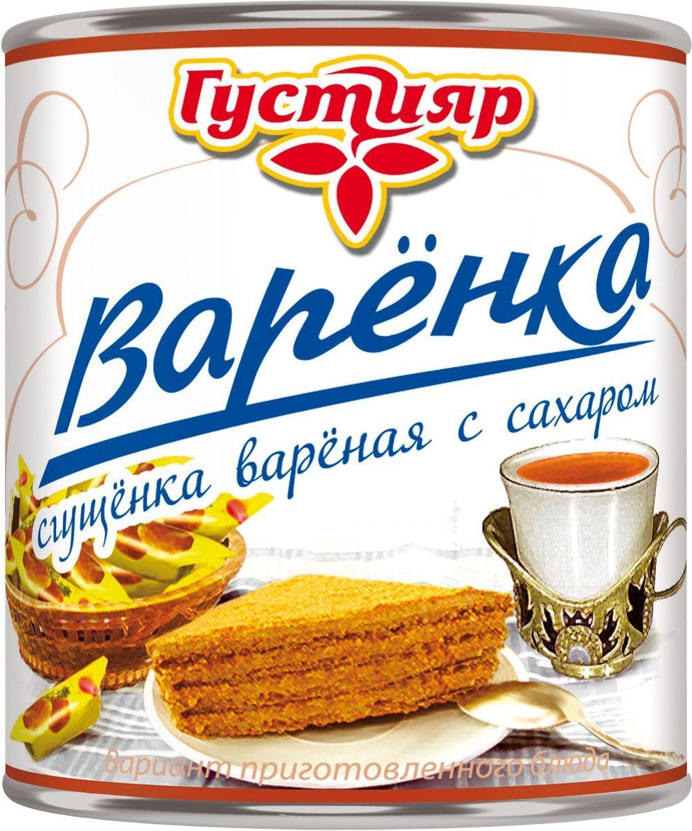 Союзконсервмолоко Густияр молоко сгущенное вареное, 370 г0120710Молоко сгущенное вареное Густияр белого цвета, светло-желтоватого оттенка, без комочков. Пищевая ценность на 100 г продукта: жиры - 8.5 г, белка - 5 г, углеводов - 56 г; вкусное и насыщенное, оно обогатит организм необходимыми для здоровья витаминами, кальцием и придаст заряд бодрости.