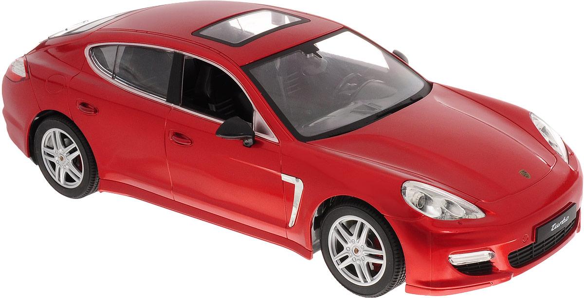 """Радиоуправляемая модель MZ """"Porsche Panamera"""" понравится не только ребенку, но и взрослому, ценящему оригинальные подарки. Модель выполнена из прочного пластика и представляет собой точную копию автомобиля Porsche Panamera  в масштабе 1/14. В комплект входит удобный пульт управления, зарядное устройство для аккумулятора модели и инструкция на русском языке. Модель отличается тщательной проработкой и высокой детализацией. Автомобиль реалистично двигается вперед и назад, а также выполняет повороты вправо и влево. Модель дополнена световыми эффектами. Прорезиненные колеса имеют рельеф и обеспечивают надежное сцепление с любой гладкой поверхностью. Реалистичная модель на радиоуправлении приведет в восторг и ребенка, и взрослого, и принесет множество ярких впечатлений, а также позволит устроить настоящие гонки у себя дома.Машина работает от 5 батареек напряжением 1,5V типа АА (входят в комплект). Зарядка батареек осуществляется посредством зарядного устройства (входит в комплект). Пульт управления работает от батарейки 9V типа """"Крона"""" (входит в комплект)."""