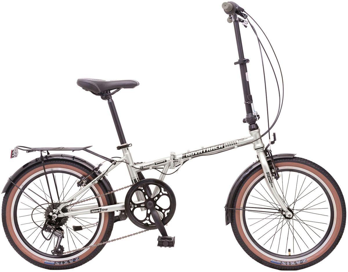 Велосипед складной Novatrack Aurora, цвет: серый металлик, 20WRA523700Складной велосипед Novatrack Aurora 20это практичный складной велосипед, который отличается своей простотой управления, компактностью и универсальностью. Поместить такой велосипед на балконе, в шкафу или перевести в багажнике автомобиля не составит труда. Велосипед Novatrack Aurora 20 оснащен переключением скоростей, оптимизированным оборудованием Shimano, которое обеспечивает выбор между 6 скоростными режимами. Рама велосипеда очень прочная, так как выполнена из пвысокопрочной легированной стали. Торможение осуществляется передним и задним ободным тормозом.