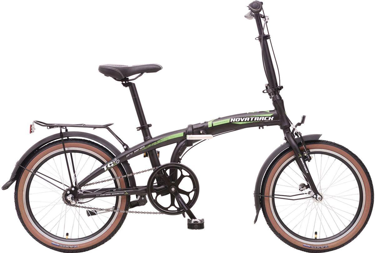 Велосипед складной Novatrack TG-20, цвет: черный, белый, зеленый, 20MHDR2G/ANovatrack TG-20 - это практичный складной велосипед, который отличается своей простотой управления, компактностью и универсальностью. Поместить такой велосипед на балконе, в шкафу или перевести в багажнике автомобиля не составит труда. Складной велосипед оснащен переключением скоростей, оптимизированным оборудованием Shimano, которое обеспечивает выбор между 6 скоростными режимами. Рама велосипеда очень прочная, так как выполнена из высококачественного алюминиевого сплава, но в тоже время легкая, поэтому катание на таком велосипеде - одно удовольствие.