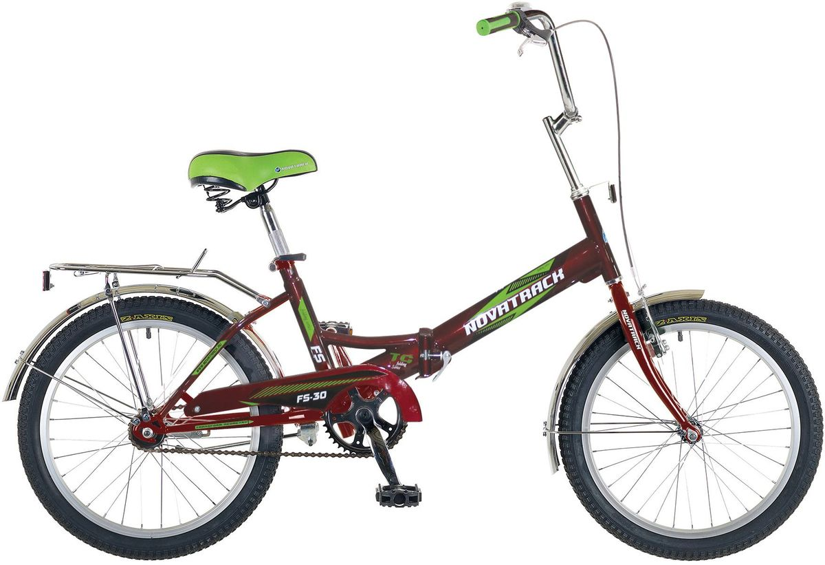 Велосипед детский Novatrack FS-30, цвет: бордовый, 203B327Novatrack FS-30 20'' – это складной подростковый велосипед, рассчитанный на ребят 8-14 лет, который отличается неприхотливостью, хорошей управляемостью и практичностью. Стальная рама складывается пополам, позволяя разместить велосипед в автомобиле или компактно хранить его в домашних условиях. Стоит отметить широкий диапазон регулировки высоты сидения и руля, благодаря чему велосипед универсален и подойдет для ребят различного роста. Торможение осуществляется ножным тормозом, который работает при любых условиях. Велосипед оснащен хромированными крыльями, широким усиленным багажником, защитным кожухом цепи, подножкой и светоотражателями.