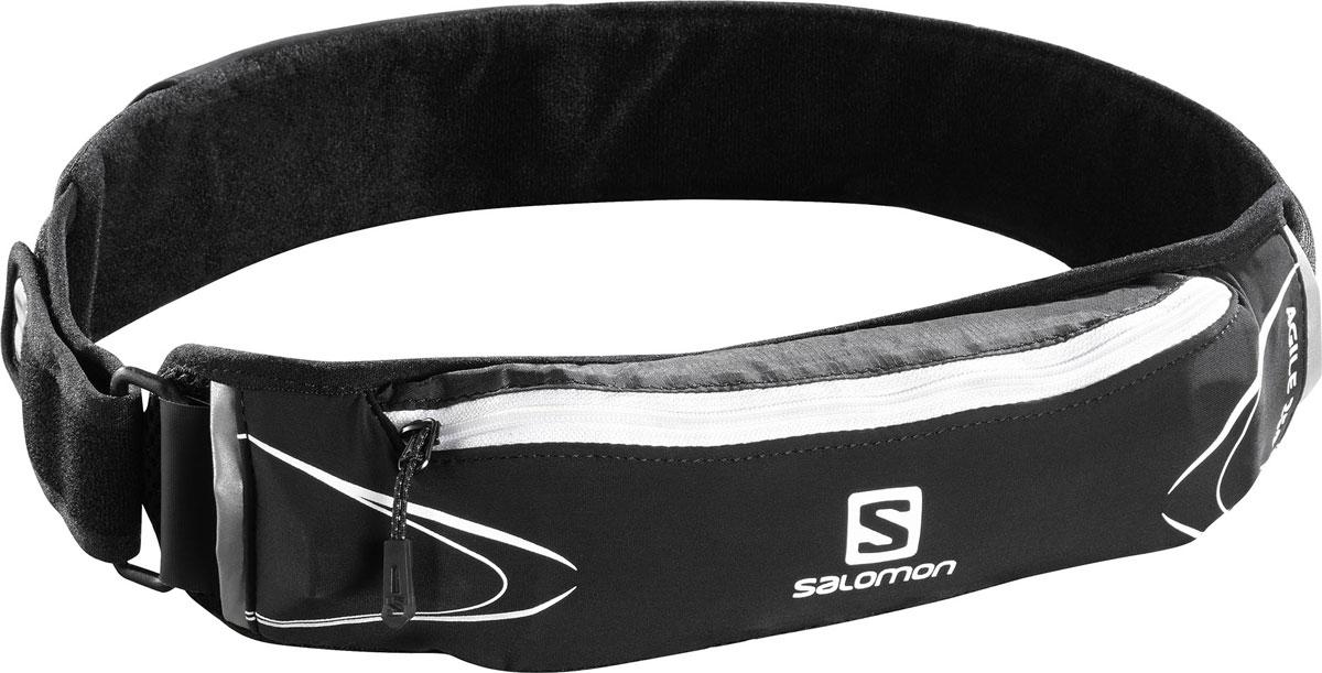 Сумка поясная Salomon Agile 250 Belt Set, с бутылкой мл, цвет: черный