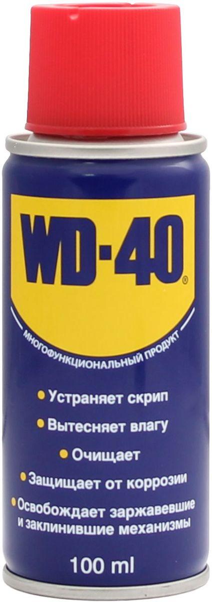 Смазка универсальная WD-40, 100 млSVC-300Средство универсальное WD-40 для тысячи применений на работе и в быту! WD-40 помогает деталям и механизмам работать исправно и эффективно. Устраняет скрип, вытесняет влагу с металлических поверхностей, очищает от смолы, клея, жира, оставляет защитную пленку против коррозии. Проникает в ржавчину и освобождает болты и гайки, смазывает движущие части механизмов.