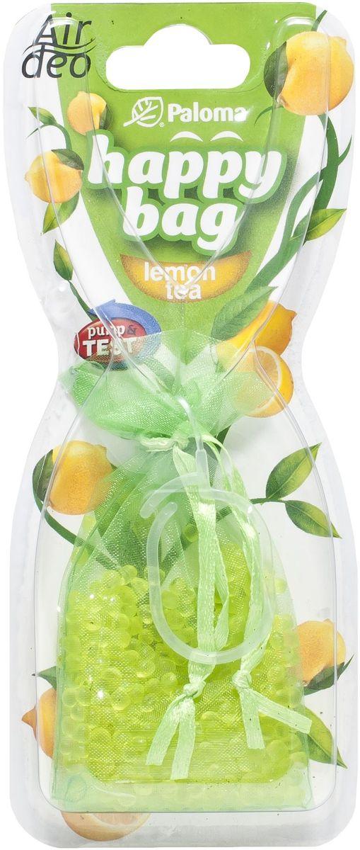 Ароматизатор автомобильный Paloma Happy Bag. Lemon106-026Подвесной ароматизатор Paloma Happy Bag. Lemon наполнит салон вашего автомобиля освежающим цитрусовым ароматом, нейтрализуя неприятные запахи, застоявшиеся в салоне. Например, от еды, обуви и сигарет. Тонкий аромат будет сопровождать вас на протяжение всего использования. Универсальный и в то же время изящный дизайн ароматизатора будет гармонично сочетаться с интерьером любого автомобиля, доставляя эстетическое удовольствие.