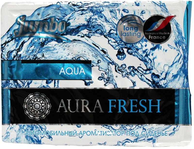 Ароматизатор автомобильный Aura Fresh Jumbo. Aqua, под сиденьеAF-F01-PCАвтомобильный ароматизатор Aura Fresh эффективно устраняет неприятныезапахи и придает легкий приятный аромат. Сочетание геля с парфюмами наилучшего качества обеспечивает устойчивый запах. Благодаря удобной конструкции, его можно положить под сиденье.