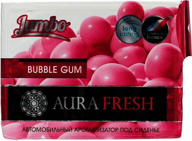 Ароматизатор автомобильный Aura Fresh Jumbo. Bubble Gum, под сиденьеAF-S01-FLАвтомобильный ароматизатор Aura Fresh эффективно устраняет неприятныезапахи и придает легкий приятный аромат. Сочетание геля с парфюмами наилучшего качества обеспечивает устойчивый запах. Благодаря удобной конструкции, его можно положить под сиденье.