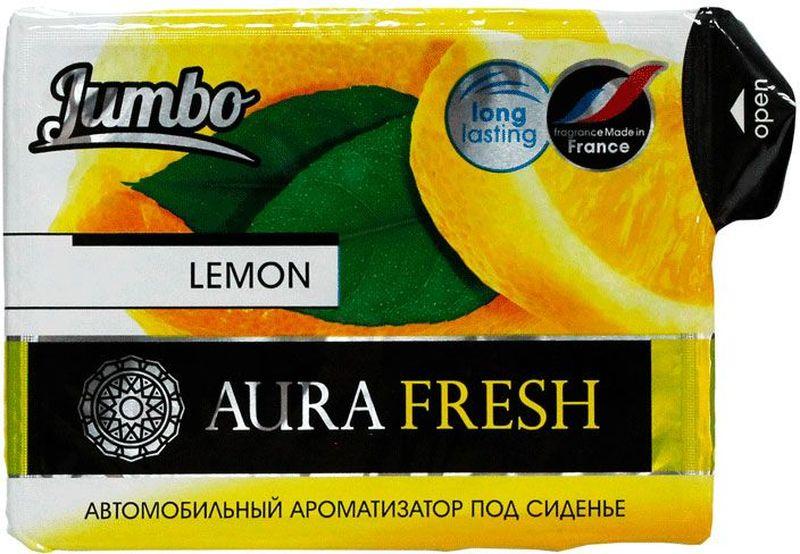 Ароматизатор автомобильный Aura Fresh Jumbo. Lemon, под сиденьеAUR-J-0006Автомобильный ароматизатор Aura Fresh эффективно устраняет неприятныезапахи и придает легкий приятный аромат. Сочетание геля с парфюмами наилучшего качества обеспечивает устойчивый запах. Благодаря удобной конструкции, его можно положить под сиденье.