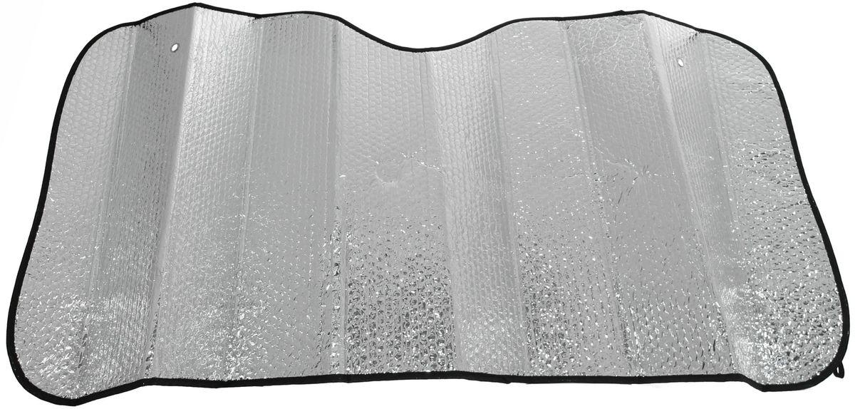 Шторка солнцезащитная Главдор, на лобовое стекло, 140 х 70 смВетерок 2ГФСолнцезащитная шторка фиксируется с помощью двух присосок на лобовое стекло (присоски в комплекте). Изготовлена из металлизированный фольги и плотного основания. Предназначена для отражения солнечных лучей, нагреванию и выгоранию поверхности деталей салона.