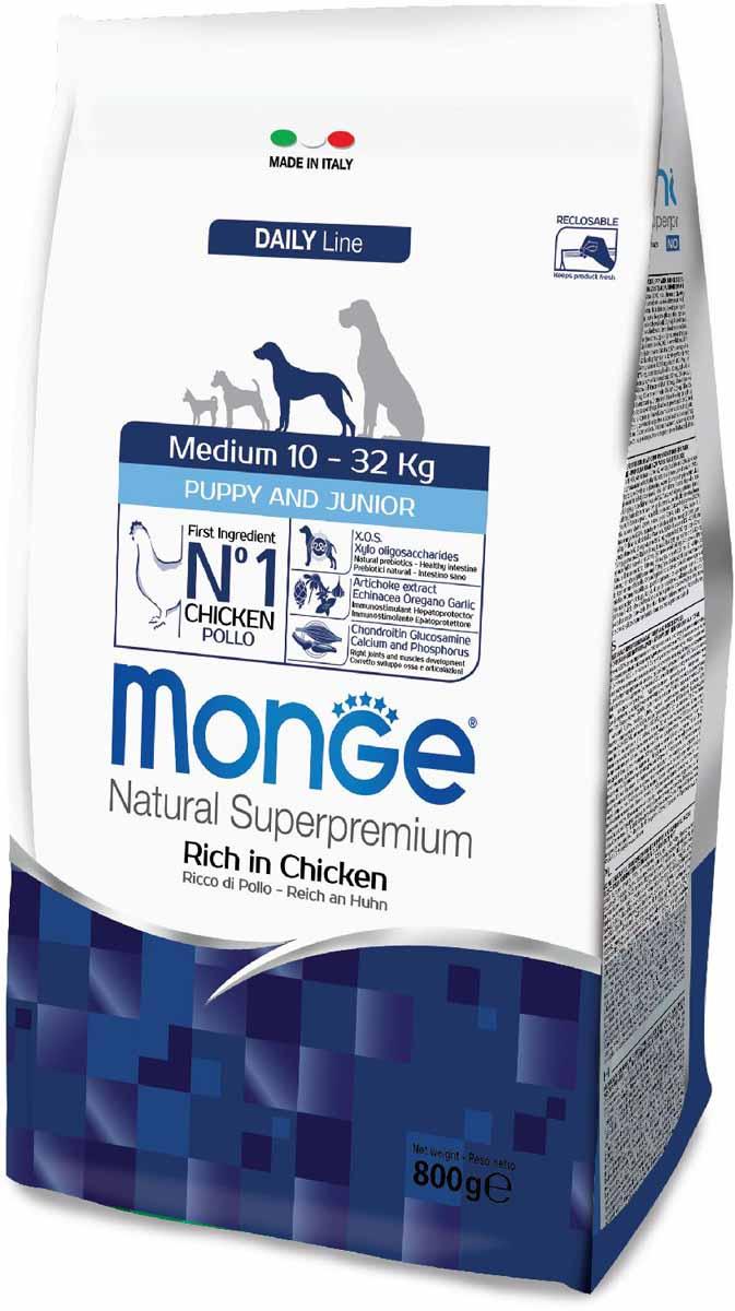 Корм сухой Monge Dog Medium, для щенков средних пород, 800 г0120710Monge Dog Medium корм для щенков средних пород, 800 г. Полнорационный корм для собак на основе мяса цыпленка и риса. Рекомендуется для щенков и молодых собак средних размеров возрастом до 12 месяцев, а также для беременных и кормящих самок.Анализ компонентов: сырой белок 29,00%, сырые масла и жиры 18,00%, сырая клетчатка 2,00%, сырая зола 7,50%, кальций 1,50%, фосфор 1,00%, омега-6 жирные кислоты 5,20%, омега-3 жирные кислоты 0,80%.Пищевые добавки/кг: витамин А 26000 МЕ, витамин D3 1820 МЕ, витамин Е 200 мг, витамин В1 20 мг, витамин В2 25 мг, витамин В6 12 мг, витамин В12 240 мг, биотин 32 мг, ниацин 50 мг, витамин С 175 мг, пантотеновая кислота 30 мг, фолиевая кислота 2,8 мг, холина хлорид 3200 мг, инозитол 6,00 мг, Е5 сульфат марганца моногидрат 32 мг, Е6 оксид цинка 150 мг, Е4 сульфат меди пентагидрат 13 мг, Е1 сульфат железа моногидрат 110 мг, Е8 селенит натрия 0,20 мг, Е2 безводный йодат кальция 1,80 мг, L-карнитин 140 мг, DL-метионин 7,20 г. Технологические добавки/кг: натуральная смесь из токоферола и экстракта розмарина обыкновенного. Органолептические добавки/кг: натуральный экстракт каштана 20 мг, экстракт артишока 300 мг.Энергетическая ценность: 4 200 ккал/кг. Ингредиенты: курица (32% дегидрированного и 10% свежего мяса), рис, кукуруза, животный жир (куриный жир 99,5%, консервированный с помощью натуральных антиоксидантов), сухая свекольная пульпа, пивные дрожжи (источник МОС и витамина B12), кукурузнаяглютеновая мука, гидролизованный животный белок, овес (источник ценных пищевых волокон), сухое цельное яйцо (с высоким содержанием ценных белков), рыба (дегидрированный лосось), рыбий жир (масло лосося), КОС (ксилоолигосахариды 3г/кг), гидролизованные дрожжи (источник МОС), юкка Шидигера, спирулина, гидролизованные хрящи (источник хондроитина сульфата), гидролизованные ракообразные (источник глюкозамина), метилсульфонилметан, корнень эхинацеи, орегано, порошок сушеного чеснока. Указания по 