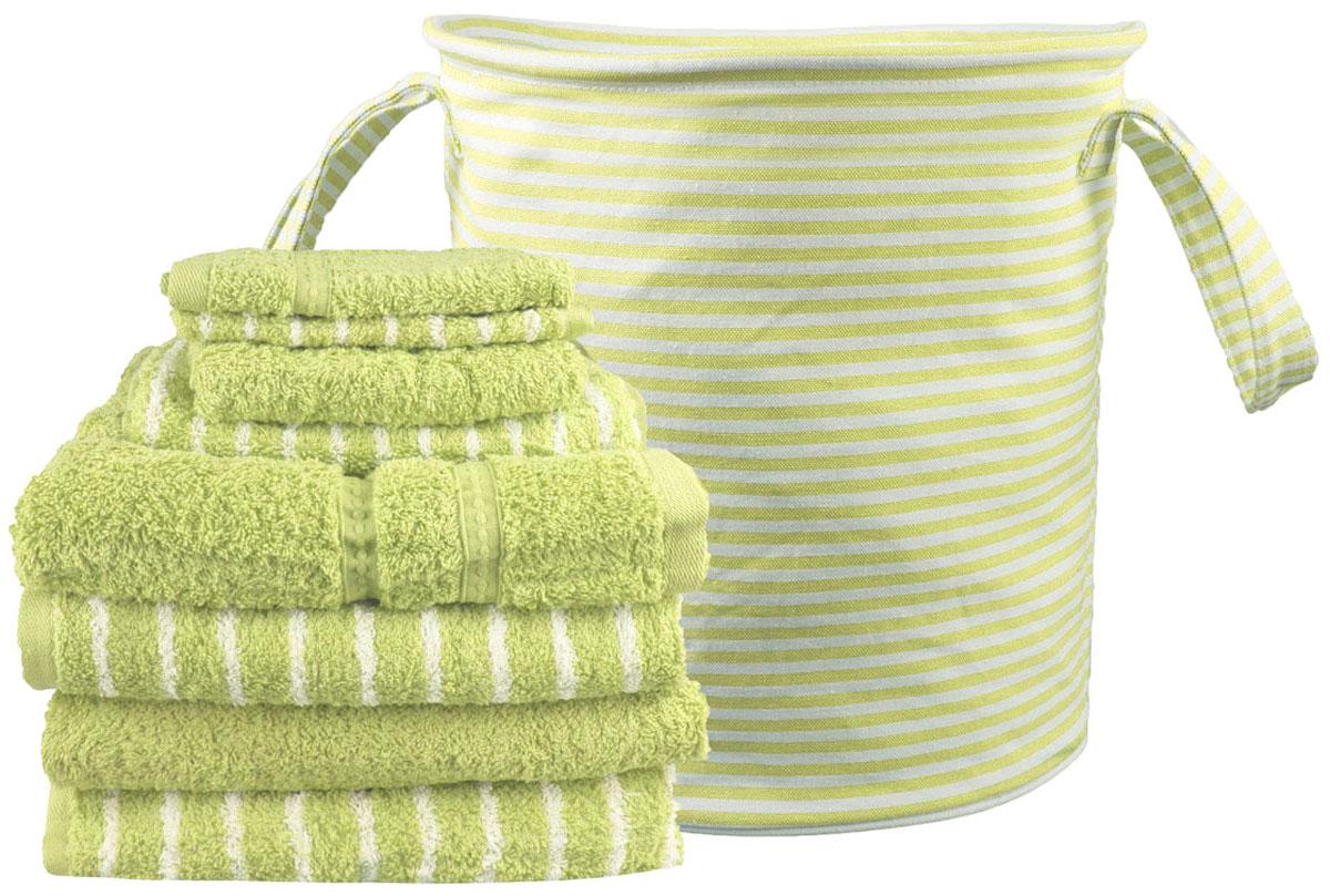Набор полотенец Miolla, с сумкой, цвет: светло-зеленый, 9 предметов68/5/3Набор полотенец гармонично соединяет в себе наилучшие свойства современного махрового текстиля, и нежную эстетику, выраженную в оригинальных узорах. Безукоризненный по качеству, экологически чистый хлопок безупречно впитывает влагу. Он долговечен, не вызывает раздражения. Повседневное соприкосновение с нежными полотенцами, обладающими идеальными качествами, поднимет вам настроение, а созерцание невообразимо стильного узора наполнит вашу жизнь оптимизмом. Набор полотенец в сумке 68 х 130 - 4 шт, 40 х 60 - 2 шт, 33 х 33 - 2 шт.