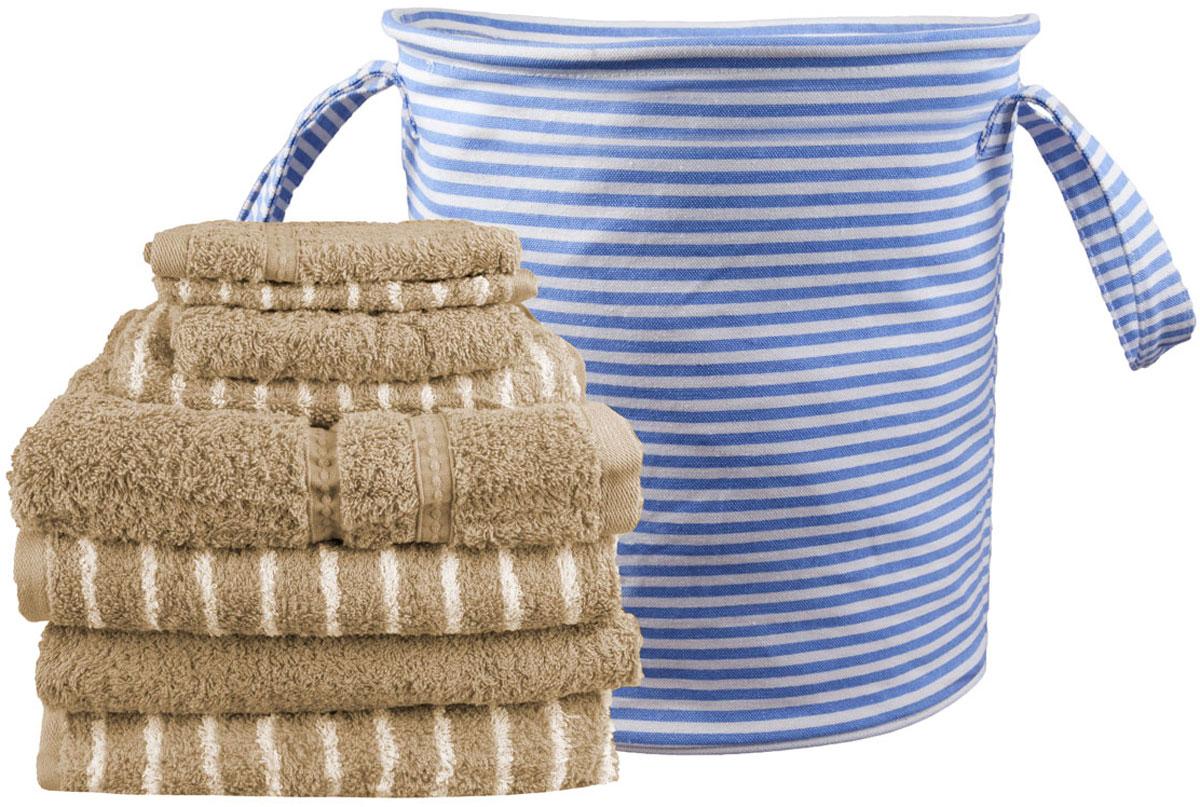 Набор полотенец Miolla, с сумкой, цвет: светло-коричневый, 9 предметов531-105Набор полотенец гармонично соединяет в себе наилучшие свойства современного махрового текстиля, и нежную эстетику, выраженную в оригинальных узорах. Безукоризненный по качеству, экологически чистый хлопок безупречно впитывает влагу. Он долговечен, не вызывает раздражения. Повседневное соприкосновение с нежными полотенцами, обладающими идеальными качествами, поднимет вам настроение, а созерцание невообразимо стильного узора наполнит вашу жизнь оптимизмом. Набор полотенец в сумке 68 х 130 - 4 шт, 40 х 60 - 2 шт, 33 х 33 - 2 шт.