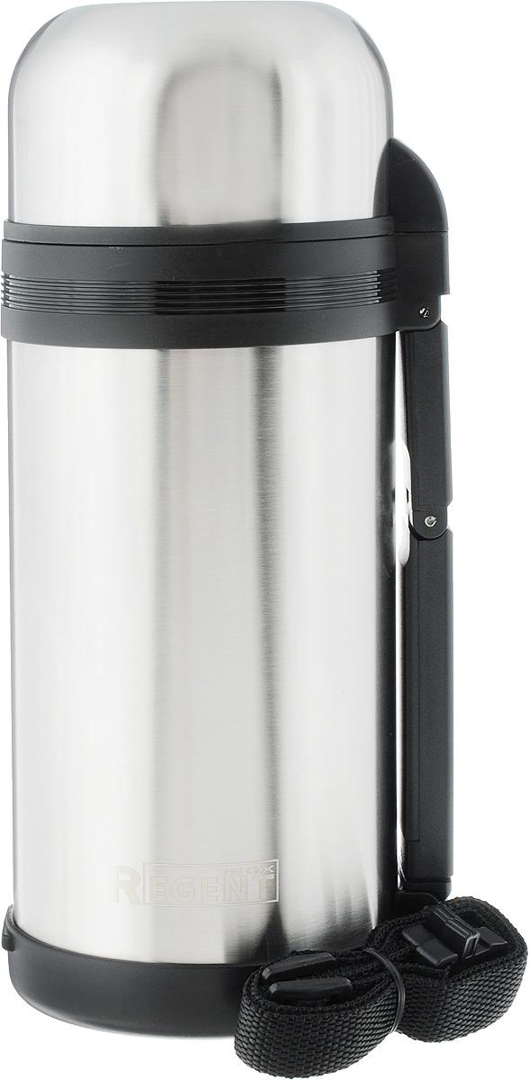 Термос Regent Inox, 1,2 л. 93 TE-U-1-120093-TE-U-1-1200Термос Regent Inox изготовлен из высококачественной пищевой нержавеющей стали с современной технологией теплоизолляции. Высокая надёжность и долговечность. Имеется глубокий вакуум и двойная металлическая колба, способствующая более длительному сохранению тепла. Термос удобен в использовании дома, на даче, в турпоходе и на рыбалке. Пригодится на работе, в офисе и командировке, экономит электроэнергию и время. Удобная ручка-ремень сделает переливание жидкостей более комфортным. Характеристики:Материал: пластик, нержавеющая сталь, резина. Объем: 1,2 л. Диаметр термоса: 10,5 см. Высота термоса (с учётом крышки): 26,5 см. Размер упаковки: 12 см х 11 см х 27,5 см. Артикул: 93-TE-U-1-1200.