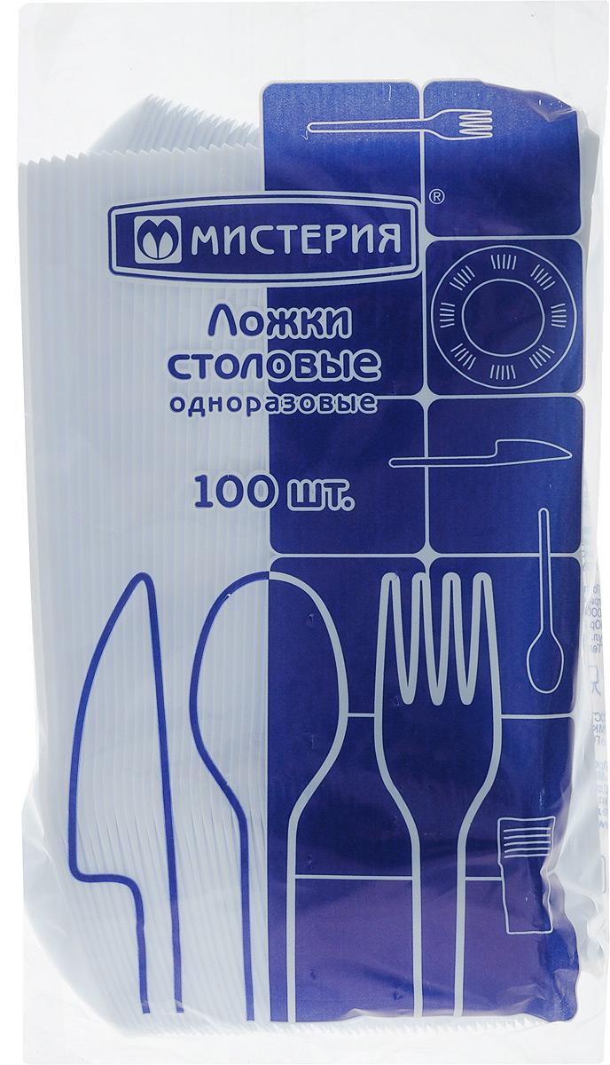 Набор одноразовых ложек Мистерия, 100 штVT-1520(SR)Набор Мистерия состоит из 100 столовых ложек, выполненных из полистирола и предназначенных для одноразового использования. Такой материал позволяет применять ложки для холодных и горячих пищевых продуктов до +70С.Одноразовые ложки будут незаменимы при поездках на природу, пикниках и других мероприятиях. Они не займут много места, легки и самое главное - после использования их не надо мыть.Длина ложки: 16,5 см.
