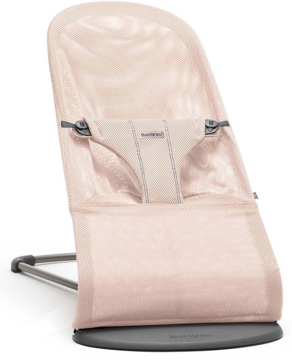 BabyBjorn Кресло-шезлонг Bouncer Bliss Mesh цвет нежно-розовый - Качели и шезлонги