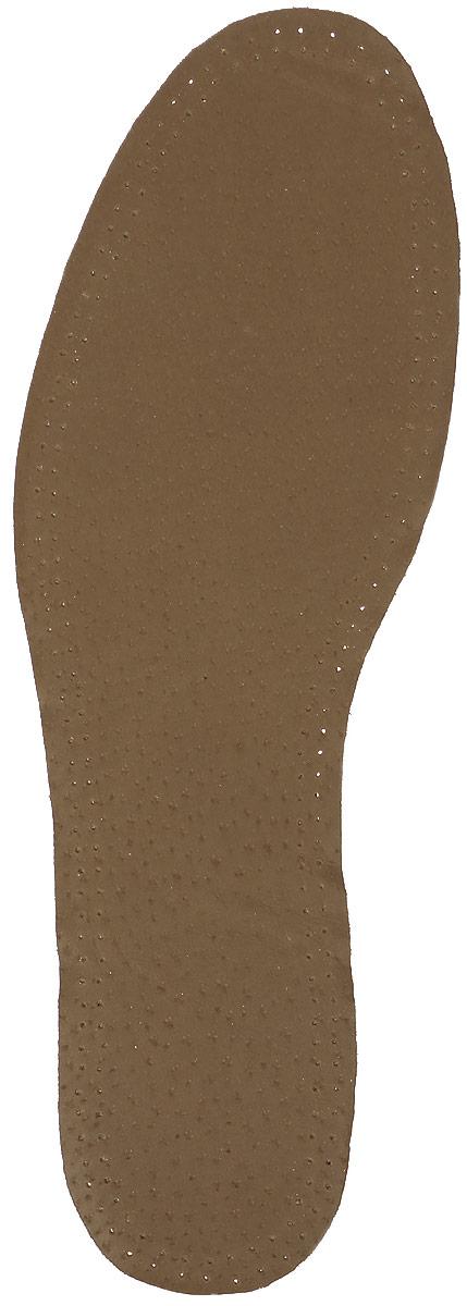 Стелька OmaKing кожа на пенке из латекса, цвет: коричневый. T-440-43. Размер 42/43402-419Кожаные стельки изготовлены из эластичной свиной кожи на подкладке из латекса с содержанием активированного угля, который помогает предотвратить запах, впитывает влагу и создаёт благоприятный микроклимат для ног.
