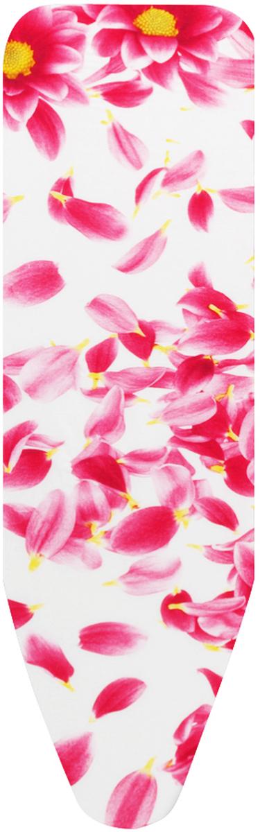 Чехол для гладильной доски Brabantia с войлоком, 124 х 38 см, цвет: розовый. 265006265006_розовые цветыЧехол для гладильной доски Brabantia с войлоком, подарит вашей доске новую жизнь и создаст идеальную поверхность для глажения и отпаривания белья. Изделие выполнено из натурального 100% хлопка с подкладкой из поролона (4 мм) и войлока (4 мм). Чехол разработан специально для гладильных досок Brabantia и подходит для большинства утюгов и паровых систем. Благодаря системе фиксации (эластичный шнурок с ключом для натяжения и резинка с крючками по центру) чехол легко крепится к гладильной доске, а поверхность всегда остается гладкой и натянутой. С помощью цветной маркировки на чехле и гладильной доске вы легко подберете чехол подходящего размера. Размер рабочей поверхности чехла: 124 см х 38 см.