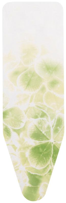 Чехол для гладильной доски Brabantia с войлоком, белый, желтый, рисунок: зеленый листок, 135 х 45 смMW-3101Чехол для гладильной доски Brabantia выполнен из натурального хлопка с подкладкой из поролона (4 мм) и войлока (4 мм). Чехол разработан специально для гладильных досок Brabantia и подходит для большинства утюгов и паровых систем. Благодаря системе фиксации (эластичный шнурок с ключом для натяжения и резинка с крючками по центру) чехол легко крепится к гладильной доске, а поверхность всегда остается гладкой и натянутой. Чехол для гладильной доски Brabantia подарит вашей доске новую жизнь и создаст идеальную поверхность для глажения и отпаривания белья.