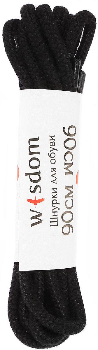 Шнурки Wisdom, круглые вощеные средние, цвет: черный, длина 90 смMW-3101Шнурки Wisdom круглые вощеные средние выполнены из хлопка. Края уплотнены пластиковой накладкой.