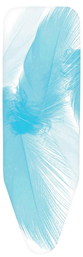 Чехол для гладильной доски Brabantia Голубое перо, 135 х 49 смGC204/30Чехол для гладильной доски Brabantia Голубое перо, выполненный из хлопка, подарит вашей доске новую жизнь и создаст идеальную поверхность для глажения и отпаривания белья. Чехол разработан специально для гладильных досок Brabantia и подходит для большинства утюгов и паровых систем. Изделие оснащено подкладкой из поролона (2 мм). Благодаря системе фиксации (эластичный шнурок с ключом для натяжения и резинка с крючками по центру) чехол легко крепится к гладильной доске, а поверхность всегда остается гладкой и натянутой.С помощью цветной маркировки на чехле к гладильной доске вы легко подберете чехол подходящего размера.Размер рабочей поверхности чехла: 135 х 49 см..