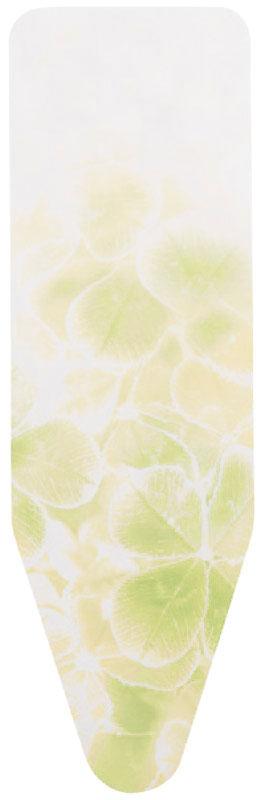 Чехол для гладильной доски Brabantia, цвет: белый, желтый, 124 х 38 смЕ121_сереброЧехол для гладильной доски Brabantia подарит вашей доске новую жизнь и создаст идеальную поверхность для глажения и отпаривания белья. Изделие выполнено из натурального 100% хлопка с подкладкой из поролона (4 мм). Чехол разработан специально для гладильных досок Brabantia и подходит для большинства утюгов и паровых систем. Благодаря системе фиксации (эластичный шнурок с ключом для натяжения и резинка с крючками по центру) чехол легко крепится к гладильной доске, а поверхность всегда остается гладкой и натянутой.