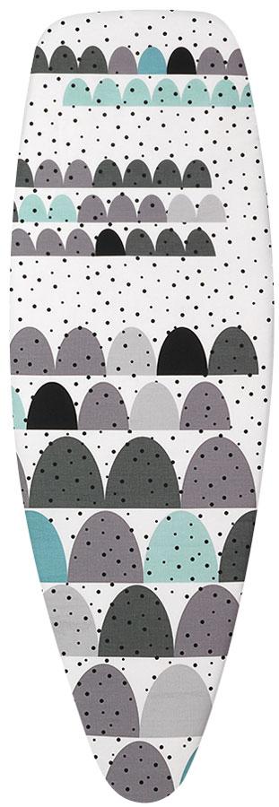 Чехол для гладильной доски Brabantia Горох, 110 х 30 смGC220/05Чехол для гладильной доски Brabantia Горох, одна сторона которого выполнена из хлопка, другая - из поролона (толщина 2 мм), предназначен для защиты или замены изношенного покрытия гладильной доски. Чехол снабжен стягивающим шнуром, при помощи которого вы легко отрегулируетеоптимальное натяжение чехла и зафиксируете его на рабочей поверхности гладильной доски.В комплекте имеются ключ для натяжения нити и резинка с крючками для лучшей фиксации чехла.Этот качественный чехол обеспечит вам легкое глажение.Размер чехла: 110 х 30 см.