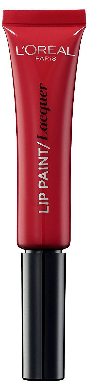 LOreal Paris Краска для губ Infaillible Lip Paint, жидкая помада, глянцевая, Оттенок 105, Красная фантазия, 8 мл28032022Яркие пигменты помад дарят насыщенный цвет, а плотная текстура легко ложится на губы и не стирается. Профессиональный аппликатор позволяет легко и точно нанести продукт на губы.