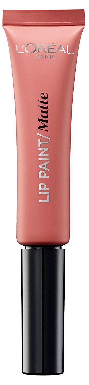 LOreal Paris Краска для губ Infaillible Lip Paint, жидкая помада, матовая, Оттенок 201, Голливудский бежевый, 8 мл28032022Яркие пигменты помад дарят насыщенный цвет, а плотная текстура легко ложится на губы и не стирается. Профессиональный аппликатор позволяет легко и точно нанести продукт на губы.