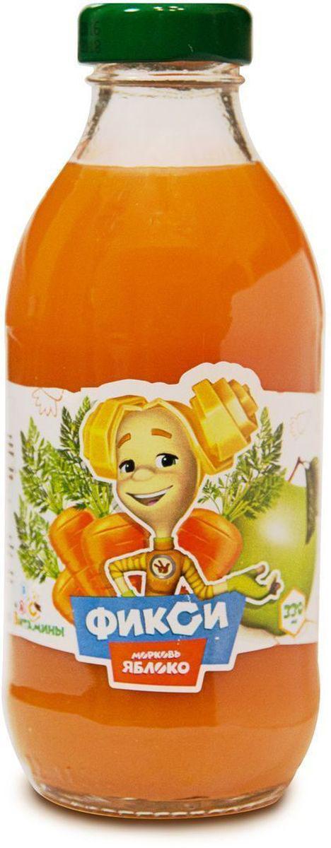 Фиксики Морковь Яблоко нектар детский, 0,33 л0120710Нектар морковь-яблоко с мякотью гомогенизированный ГОСТ 32100-2013. Минимальная объемная доля пюре 50%. Изготовлен из концентрированного пюре.