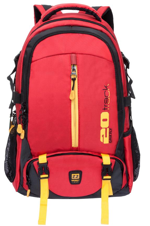 Рюкзак спортивный мужской Grizzly, цвет: красный. RU-708-2/1MHDR2G/AСпортивный рюкзак Grizzl выполнен из сочетания высококачественного нейлона. Рюкзак имеет петлю для подвешивания и две удобные лямки, длина которых регулируется с помощью пряжек. Модель имеет два основных отделения на молнии, один из которых дополнен карманом для ноутбука. На передней стенке расположены карман на молнии и объемный карман на застежке-молнии. Боковые стенки рюкзака имеют карманы из сетки. Рюкзак выполнен с анатомической спинкой и нагрудной стяжкой-фиксатором.