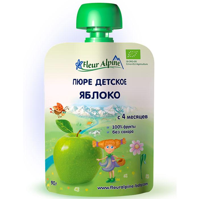 Fleur Alpine Organic пюре яблоко с 4 месяцев, 90 г5024688001017Детское пюре Fleur Alpine Organic яблоко приготовлено из гипоаллергенных сортов яблок. Яблочное пюре рекомендуется вводить в рацион малыша как один из первых продуктов прикорма. Яблоки богаты природными сахарами, органическими кислотами, витаминами и микроэлементами. Железо в сочетании с витамином С хорошо всасывается в кишечнике, способствуя профилактике анемии. Пектины и органические кислоты мягко стимулируют деятельность кишечника. Калий и магний укрепляют сердечно-сосудистую систему.